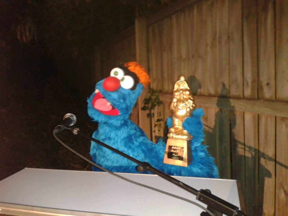 Troggg hosting the 2013 Brisbane Backyard Film Festival. Photo by Kim Huynh.