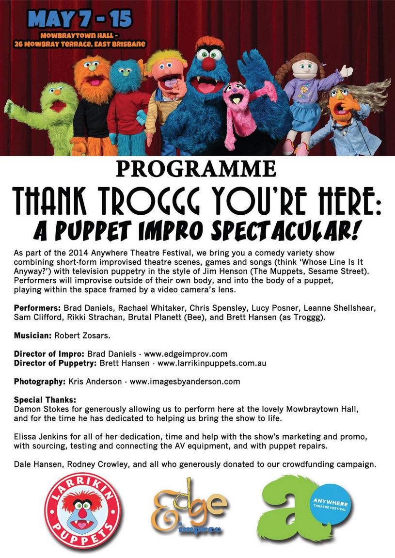 Thank Troggg Programme 2014