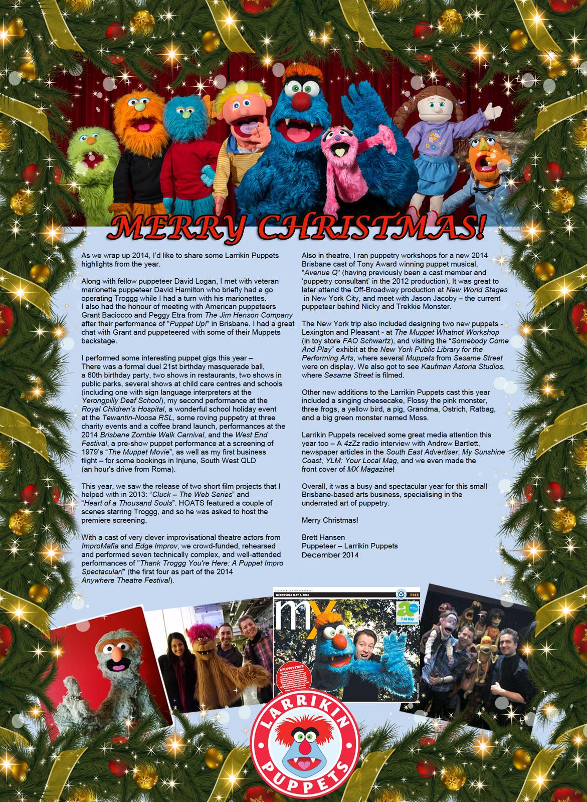 Larrikin_Puppets_Christmas_Newsletter_2014