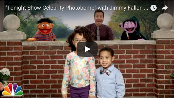 Watch Sesame Street Muppets and Jimmy Fallon Photobomb Kids