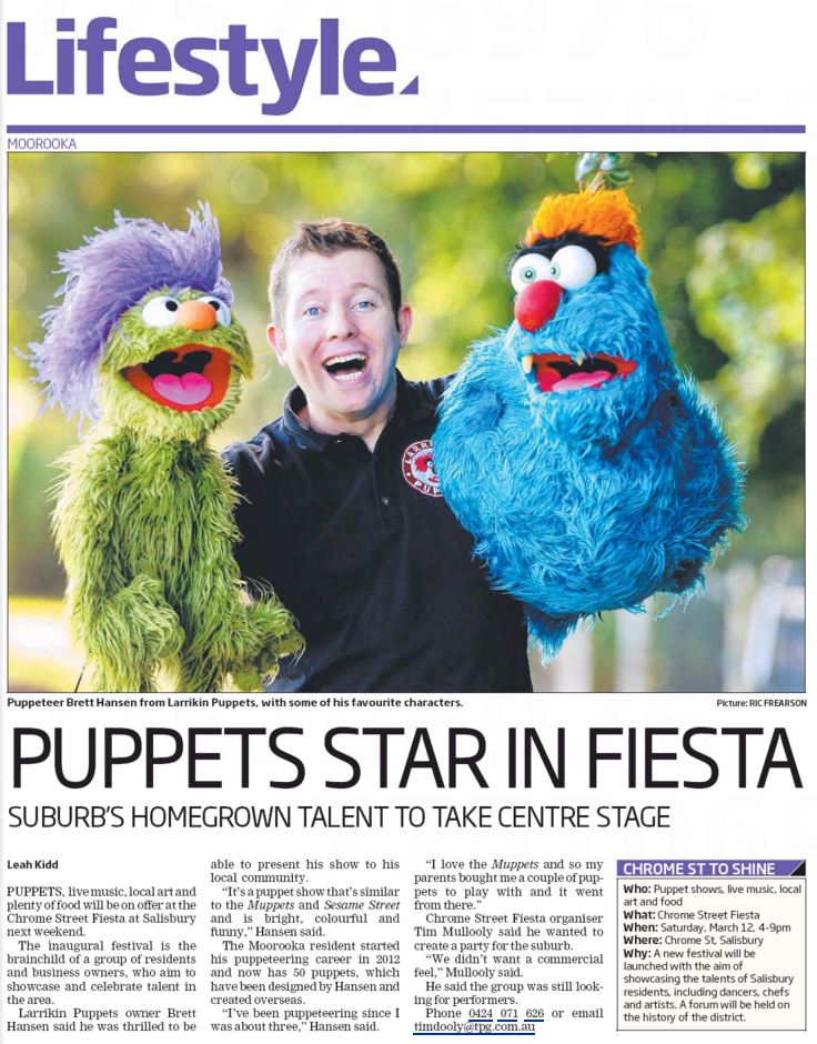 Larrikin Puppets in City South News