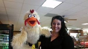 Elissa chicken puppet