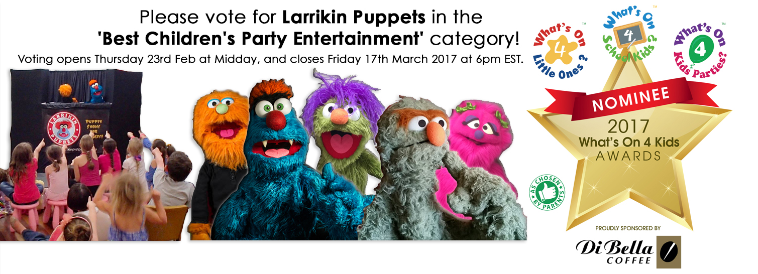Larrikin Puppets What's On 4 Kids Facebook Cover