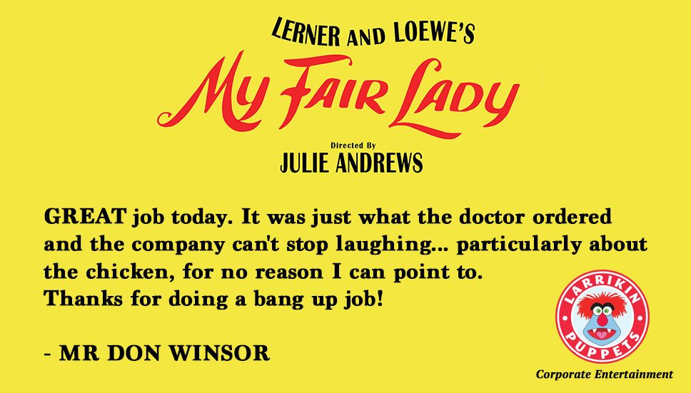 My Fair Lady Testimonial