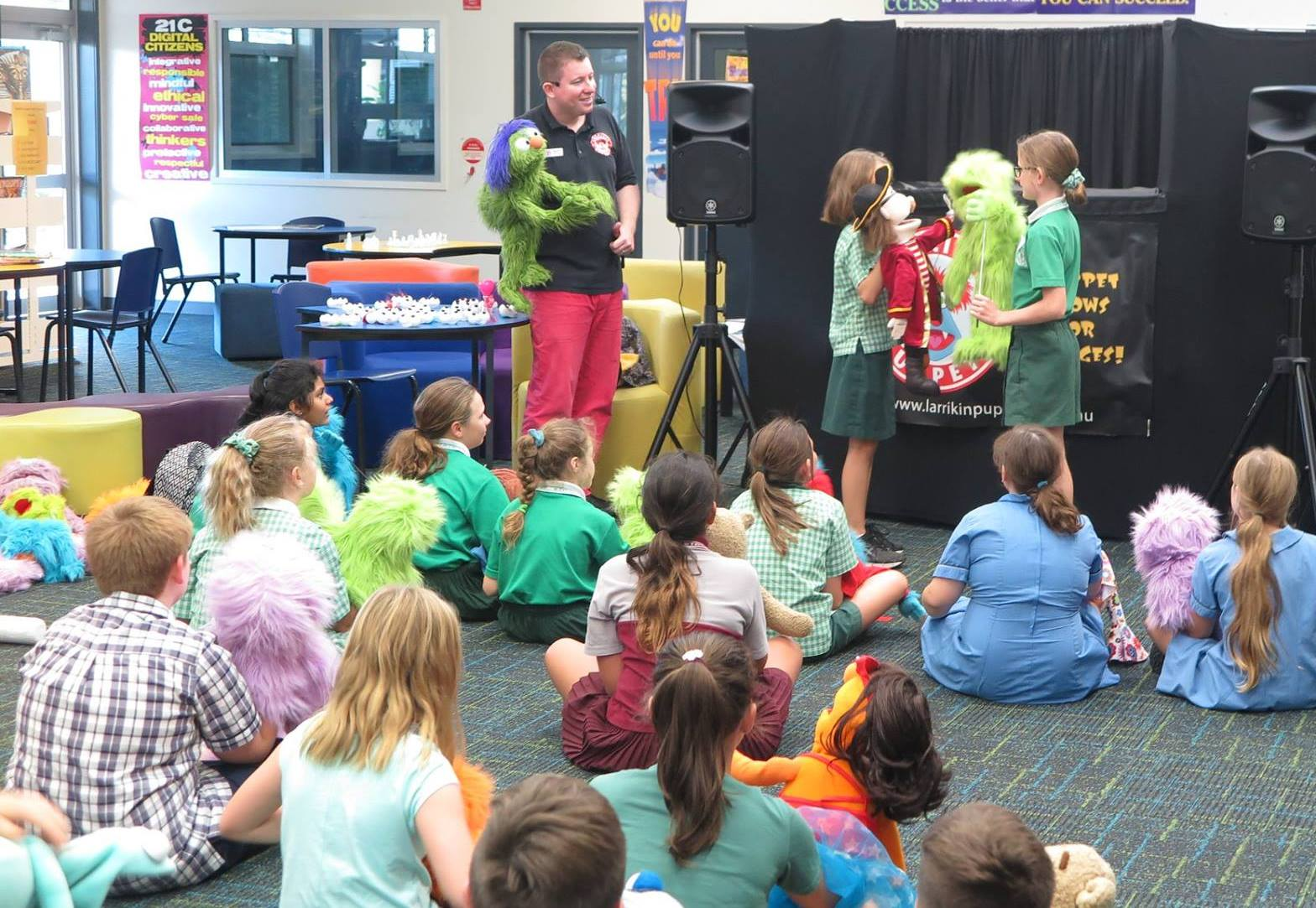 Children's Entertainment, Children's Entertainers, Party Entertainment For Hire | Puppet Show, Puppetry Workshops - Puppeteer Workshop, Brisbane Bayside State College