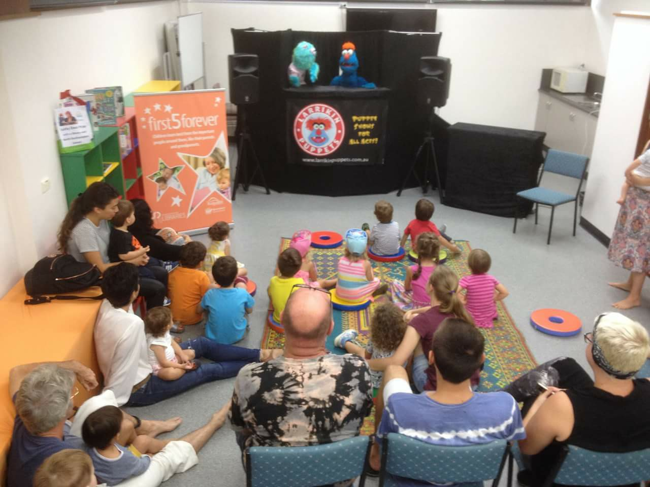 Children's Entertainment, Children's Entertainers, Party Entertainment For Hire | Puppet Show, Puppetry Workshops - Library Story Time, First 5 Forever, North Rockhampton Library