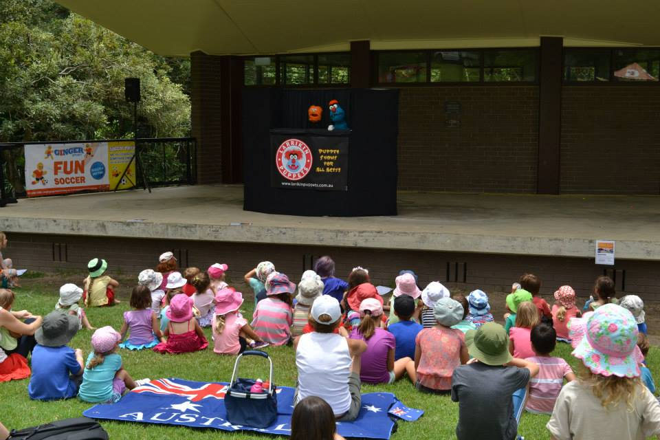 Children's Entertainment, Children's Entertainers, Party Entertainment For Hire | Puppet Show, Puppetry Workshops - Larrikin Puppets, Brisbane Botanic Gardens Mt Coot-tha