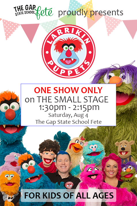 Children's Entertainment, Children's Entertainers, Party Entertainment For Hire | Puppet Show, Puppetry Workshops - Fetes and Festivals, The Gap State School Fete