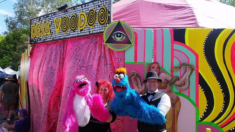 Children's Entertainment, Children's Entertainers, Party Entertainment For Hire | Puppet Show, Puppetry Workshops - Fetes and Festivals, Woodford Folk Festival, Deja Voodoo Sideshow