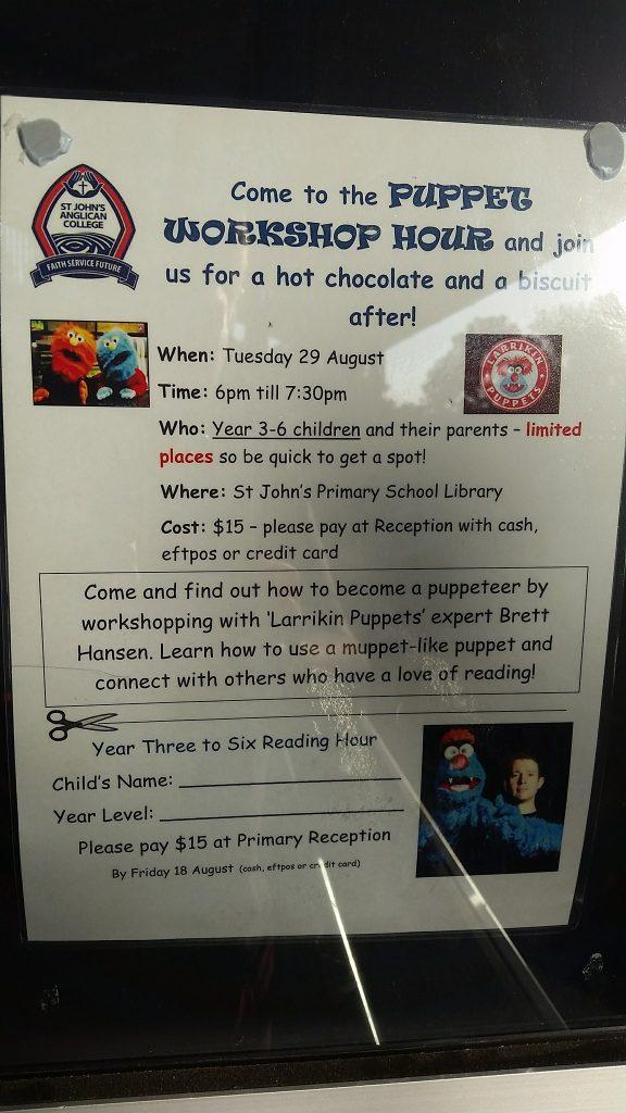 Brisbane Entertainment, School Entertainer | Puppet Show, Puppet Workshop - Book Week