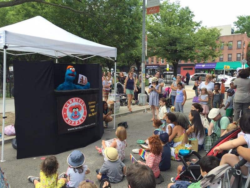 Puppet Show - Childrens Entertainers - Larrikin Puppets - Fetes and Festivals - Puppetry Arts Festival of Brooklyn NYC