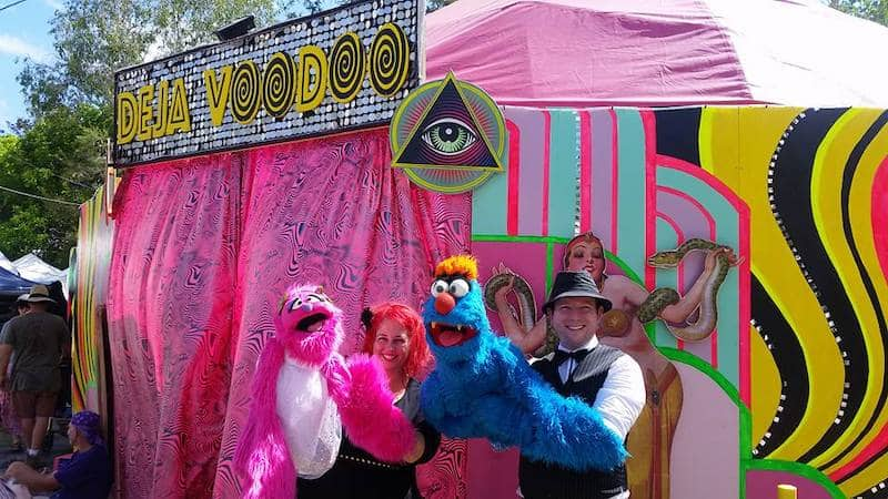 Puppet Show - Childrens Entertainers - Larrikin Puppets - Fetes and Festivals - Woodford Folk Festival