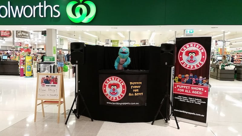 Puppet Show - Shopping Centres - Larrikin Puppets - Live Entertainment - Plaza