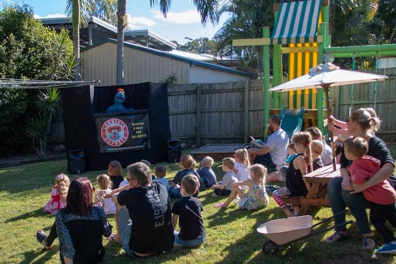 Birthday Celebration Ideas - Puppet Show - Kids Parties - Larrikin Puppets - Brisbane - Stage Setup