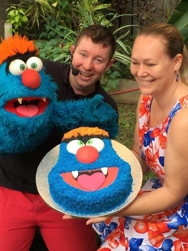 Puppet Show - Parties - Larrikin Puppets - Brisbane - Troggg cake