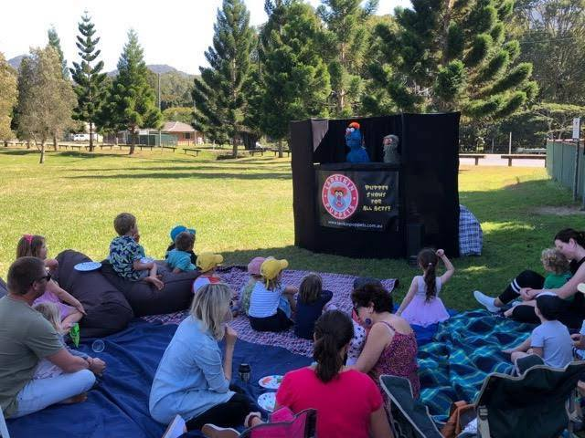 Puppet Show - Kids Parties - Larrikin Puppets - Party Entertainment Brisbane - Park
