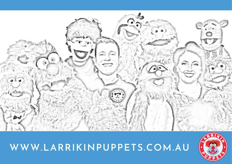 Colouring Sheet - Larrikin Puppets