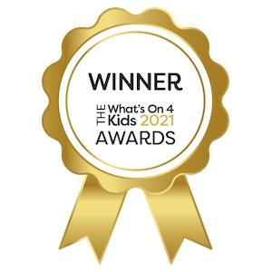 Best Kids Live Show Australia - Larrikin Puppets - Whats On 4 Kids - Award Winner 2021 - Badge