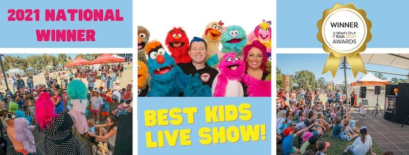 Best Kids Live Show Australia - Larrikin Puppets - Whats On 4 Kids - Award Winner 2021