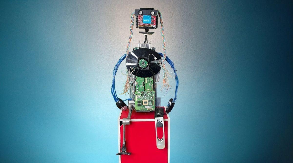 Ewaste Puppet - Lovelace - Electronic Waste - Larrikin Puppets